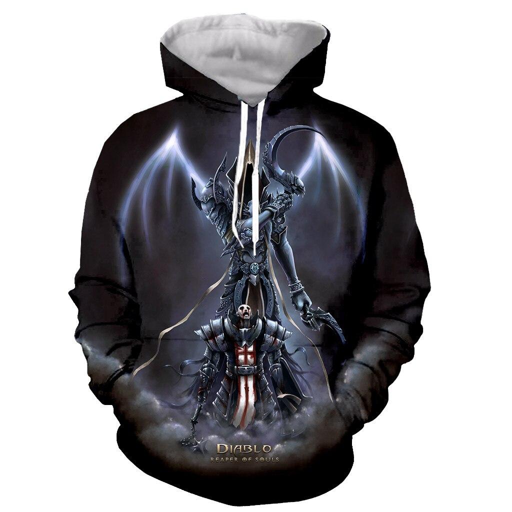 Diablo 3 Reaper of Soul Funny New Fashion Long Sleeves 3D Print Zipper/Hoodies/Sweatshirts/Jacket/Men/women Dropshipping
