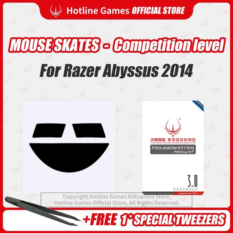 Hotline Games Mouse Skates Nível de competição mouse patins mouse pés almofada para razer abyssus 2014  mouse 0.28mm/0.6mm espessura