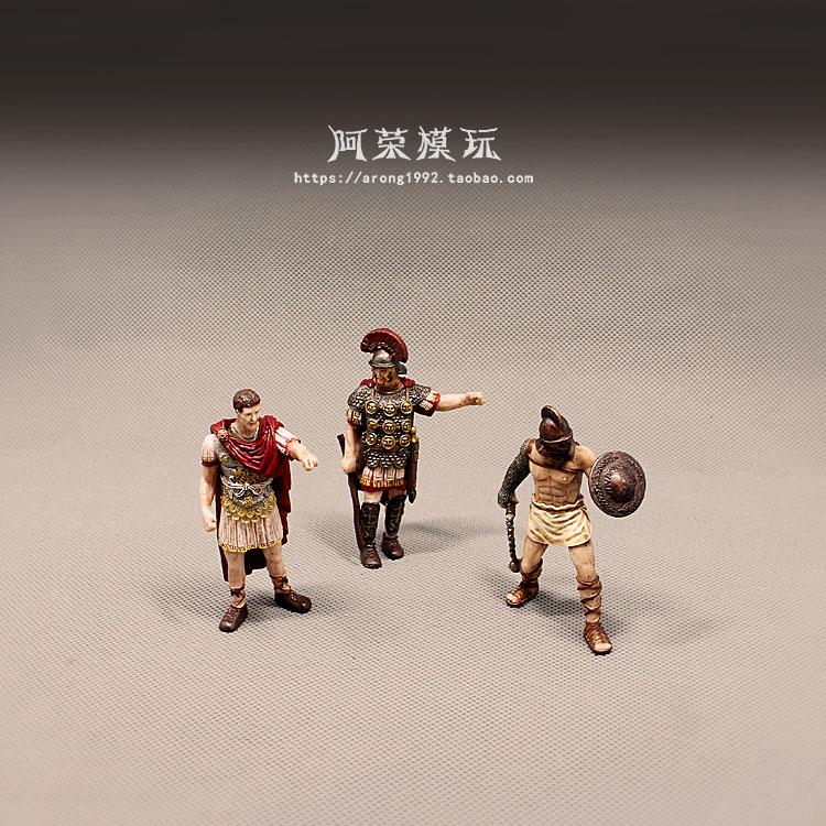 Medieval Caballero del castillo de Roma miniatura guerreros espartanos Crusader Guardia de Caballería soldado pirata figura de acción figurita modelo Juguetes