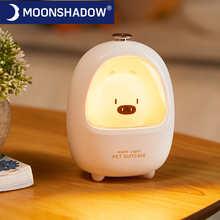 Светодиодный ночсветильник с сенсорным управлением в виде животных, Регулируемая лампа для сна для грудного вскармливания, милая детская п...