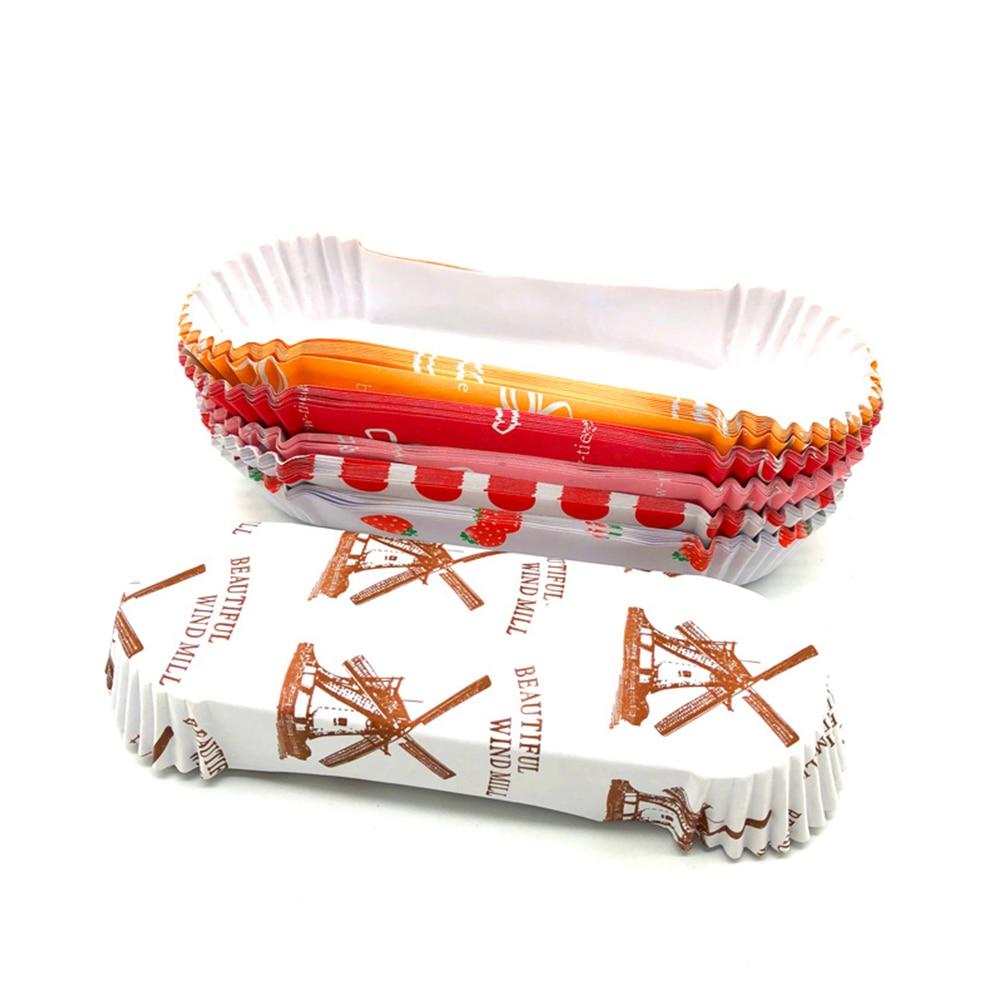 Bandeja de pão da forma do barco do filme dos envoltórios do queque de 200 pces para o casamento da celebração da festa