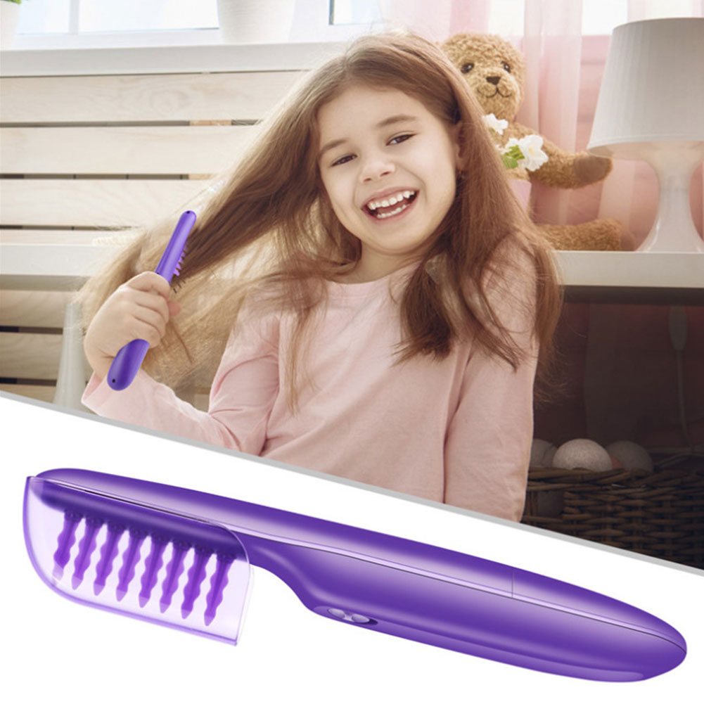 Hair Straightener Comb Electric Detangling Brush Hair Styling Comb Scalp Massager Portable Hair Smooth Brush for Adult Children