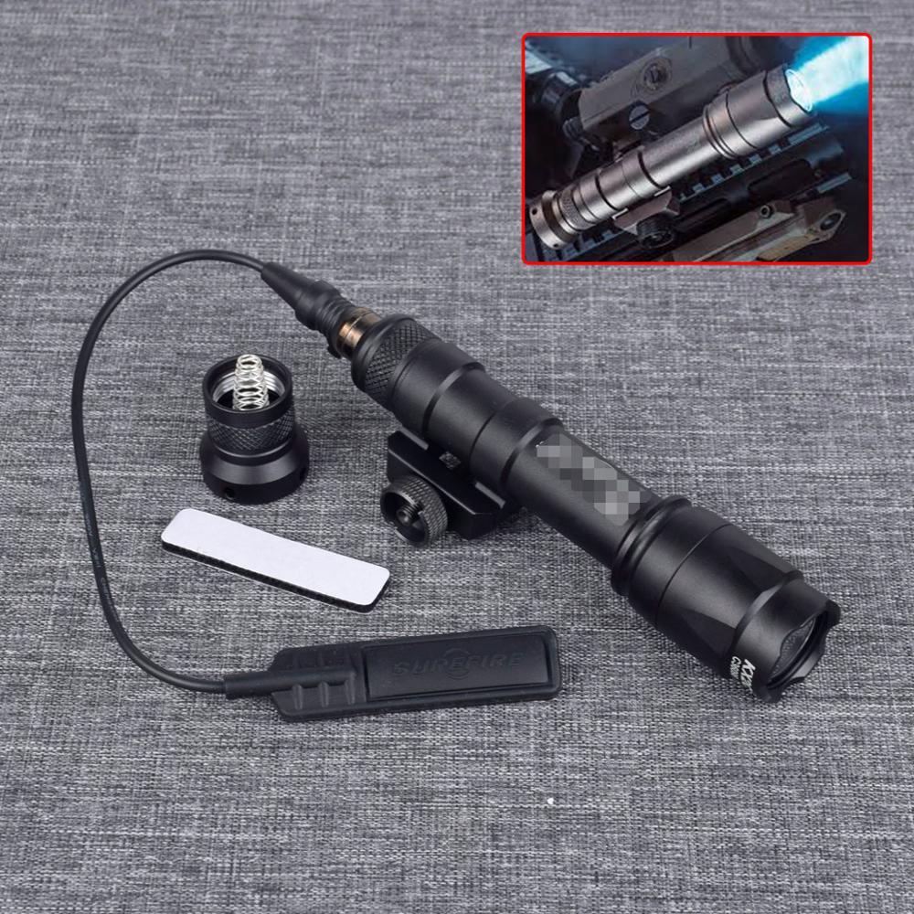 Arma tática surefir m600c, olheiro, luz de led 400 lúmens, caça, rifle, lanterna, airsoft m600 série com softair switch