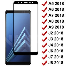 9D Tempered Glass on For Samsung Galaxy A5 A7 A9 J2 J3 J7 J8 2018 Glass A6 A8 J4 J6 Plus 2018 Screen