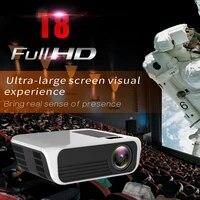 UNIC     projecteur LED T8  resolution 1920x1080  200 pouces  1080P  Full HD  WIFI  ecran de synchronisation  7000 Lumens  HDMI  USB  lentille LCD  pour Home cinema