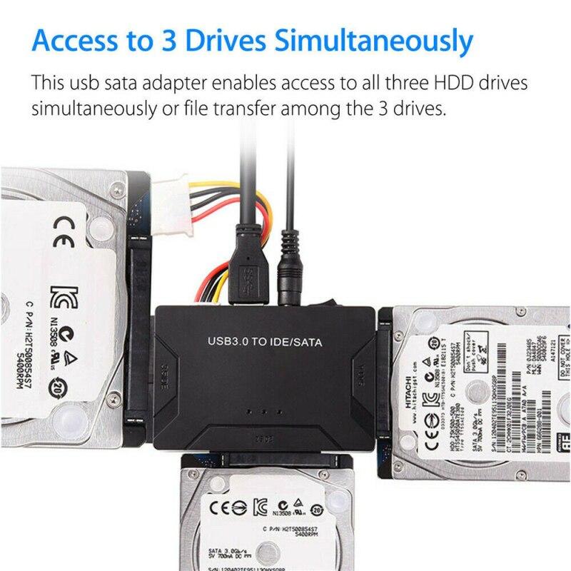 News SATA to USB IDE Adapter USB 3.0 Sata 2.5 3.5 Hard Disk Drive HDD SSD USB Converter IDE SATA to USB SATA Adapter Cable