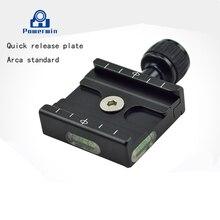 QR-50 płyta adaptera zacisk kwadratowy z gradienterem QR50 płyta szybkiego uwalniania dla głowica kulowa statywu arca swiss RRS Wimberley