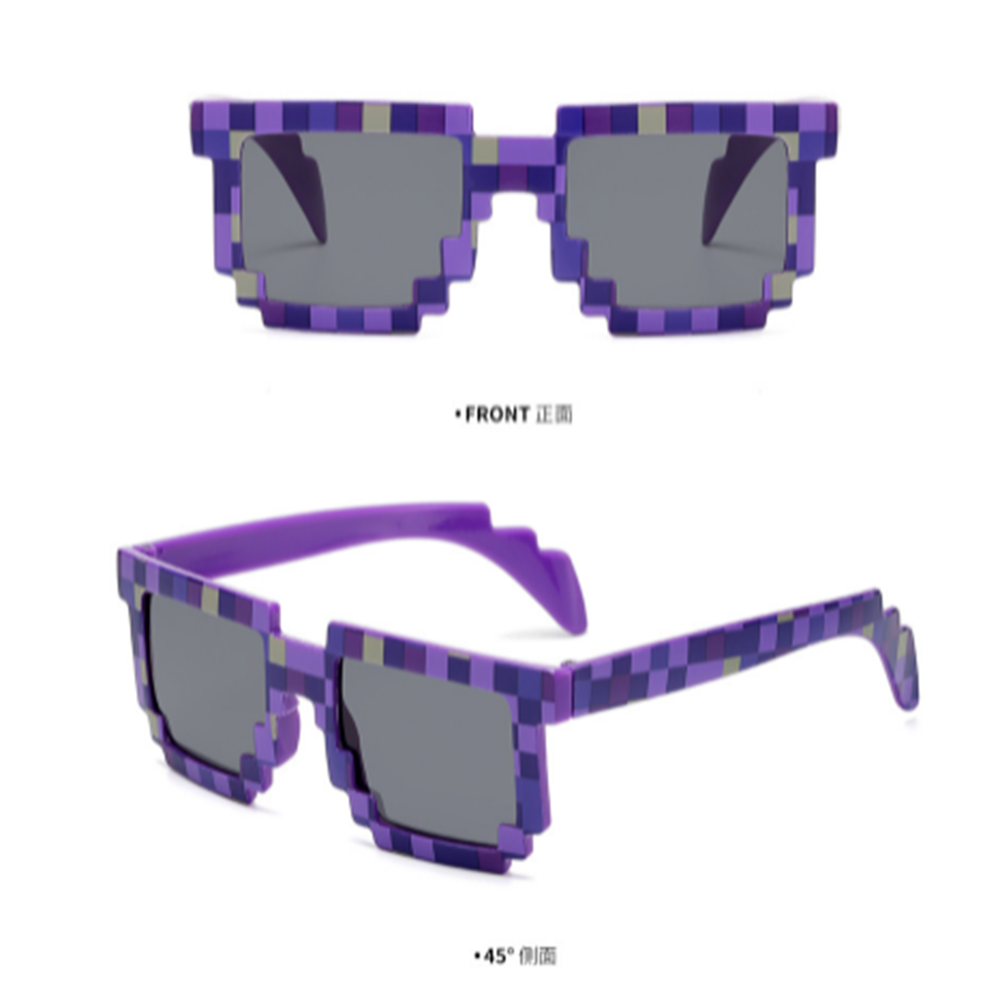 Fashion Sunglasses Adults Kids Cos Play Action Game Toy Minecrafter Square Glasses for Children