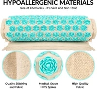 top natural organic linen acupuncture mat buckwheat lotus spike massage pad cushion yoga mat backneck pain relief therapy