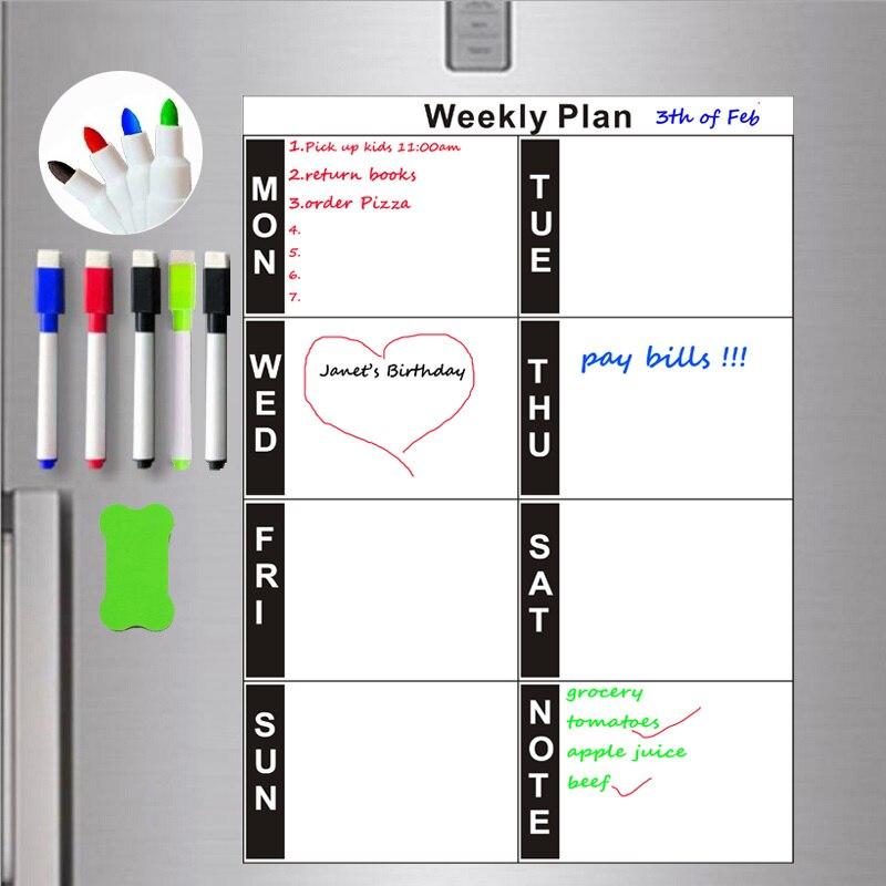 Planificador de semana magnética A4, placa planificadora diaria, imanes para nevera, hoja planificadora semanal inteligente, tableta organizada, Programa de programación de mes