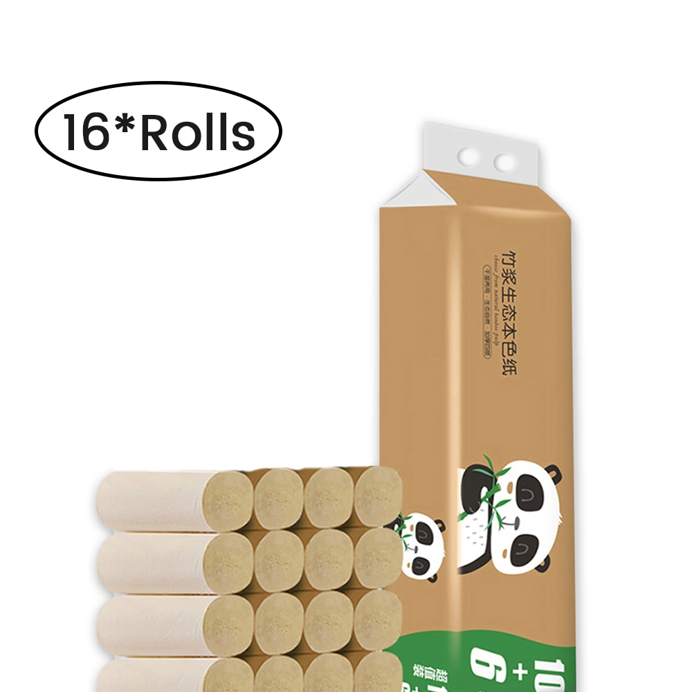 ¡Nuevo! Rollo de 16 rollos de papel higiénico grueso para Limpieza de tejidos en el hogar