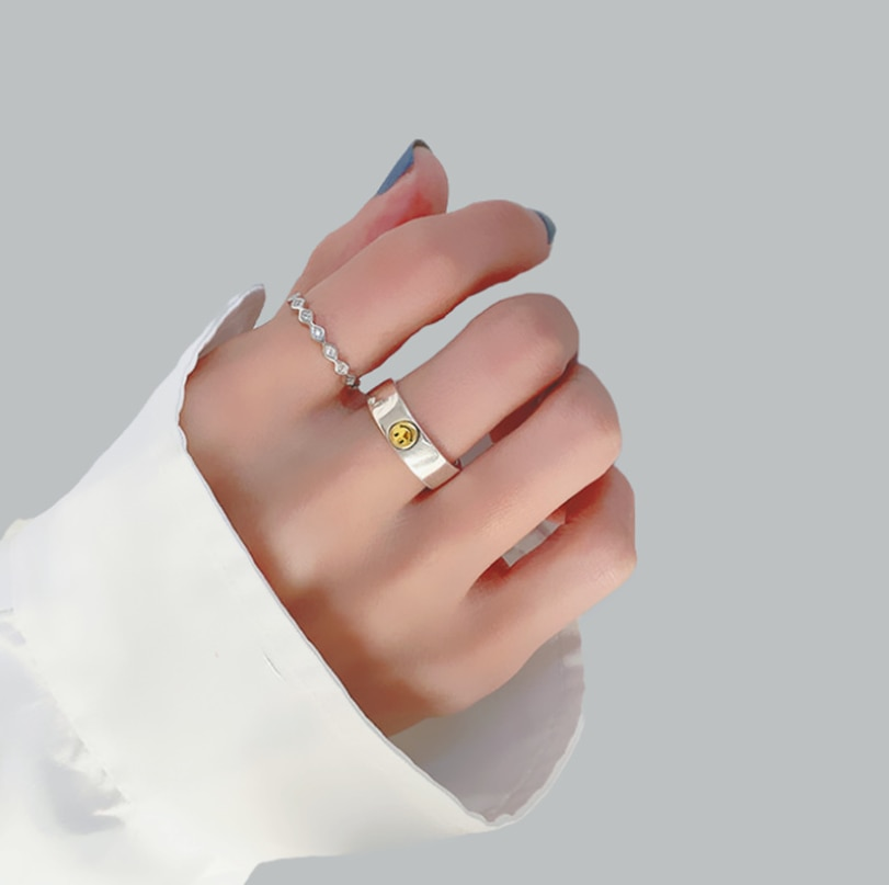 Shanice-venta al por mayor de anillo abierto de plata esterlina 925, con...