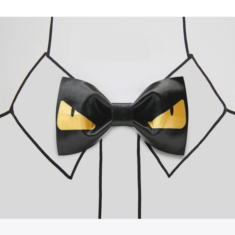 High Quality 2020 New Arrival Men Bow Tie Casual Cartoon Mario Bowties Butterfly Fashion Bow Ties for Student Youth Gift Box