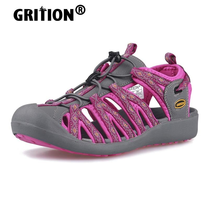 AliExpress - GRITION Women Platform Wedges Beach Sandals Trekking Ladys Nubuck Leather Shoes Summer Outdoor Flat Casual Sport Sandals Girls
