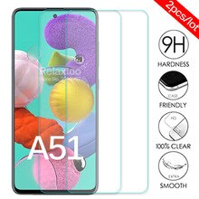 2pcs/lot protective Glass For samsung a51 screen protector on the For samsung Galaxy a51 2019 sm a51