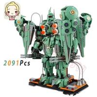 2091PCS Robot Mecha War Building Blocks Toys Bricks DIY Technology Mini Model Gifts Children Kids MOC Boys Gifts Technical