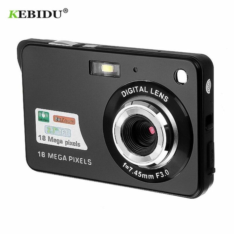 "KEBIDU portátil 2,7 ""720P 18MP 8x Zoom TFT LCD HD Cámara Digital Video videocámara DV Anti-vibración foto para niños regalo Mini Camer"