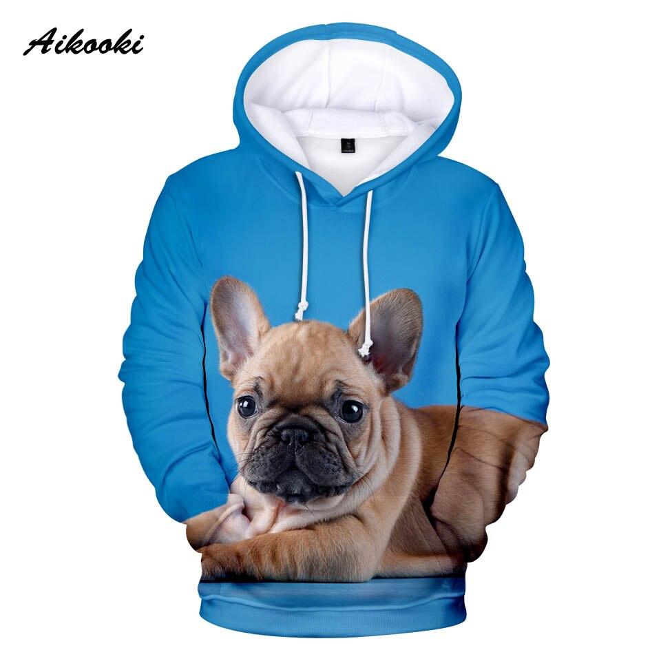 Abrigos bonitos para niños, sudaderas con capucha 3D de Bulldog Francés para niños/niñas, ropa deportiva cómoda para Primavera/otoño para hombres con capucha para perros y Bulldog Francés
