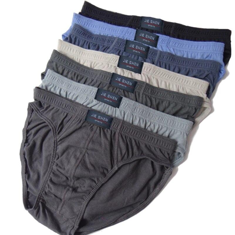 Caleçons 100% coton pour hommes, slips grande taille, sous-vêtements pour hommes, culottes respirantes pour hommes, slips pour Gay, L-6XL