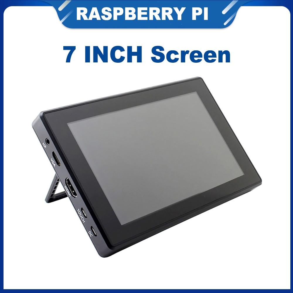 ITINIT R161 7 بوصة التوت Pi 4B/3B +/3B شاشة تعمل باللمس 1024x600 IPS شاشة الكريستال السائل القائمة متوافق jeموضة نانو الكمبيوتر المحمول