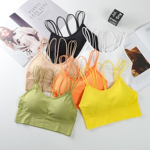 Hot Selling Kaka Celebrity Style Sexy Cross-Back Wrap-Around Non-Steel Ring Comfortable Elasticity Seamless Camisole Lingerie