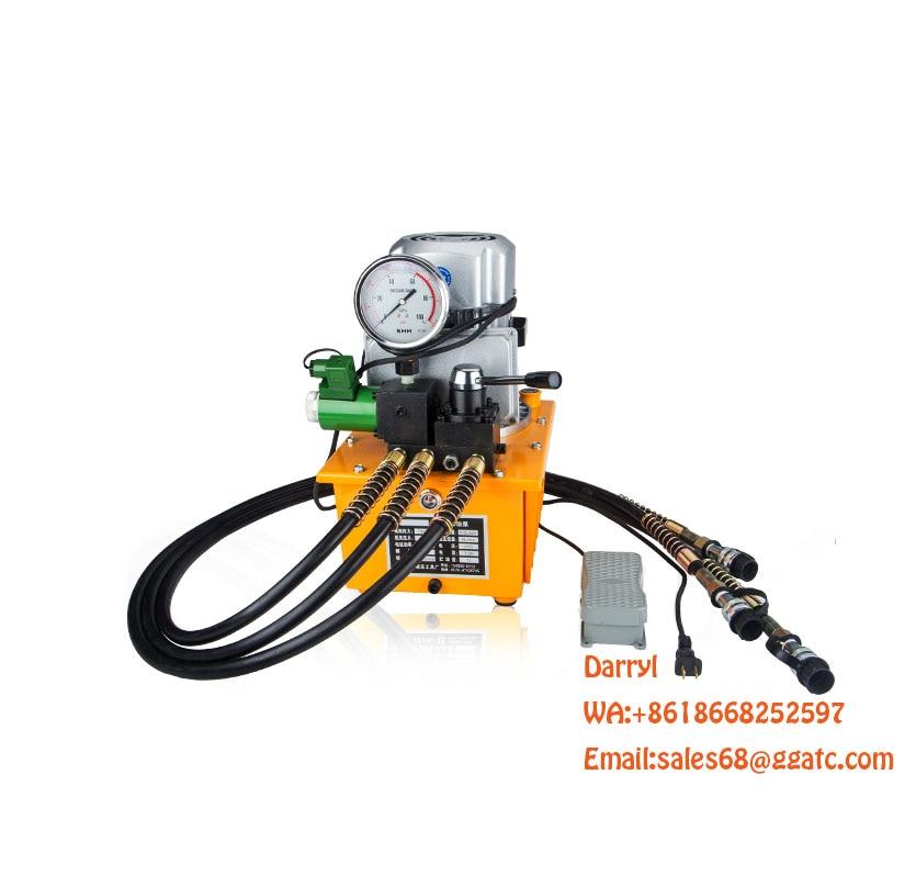 Bomba hidráulica eléctrica 700bar de 1,5 kW 220V 30 litros de alta presión portátil