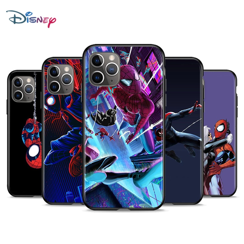 marvel-spider-man-per-apple-iphone-12-11-mini-xs-xr-x-pro-max-se-2020-8-7-6-5-5s-plus-cover-nera-per-telefono