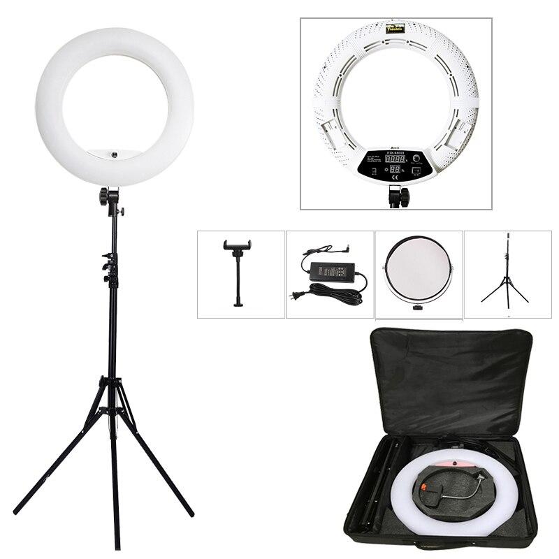 LED حلقة أضواء طقم مصابيح مع ترايبود 96 واط 3200 كيلو-5500 كيلو ثنائية اللون Yidoblo FD-480II 18in ماكياج مصباح الفيديو التصوير الفوتوغرافي الإضاءة