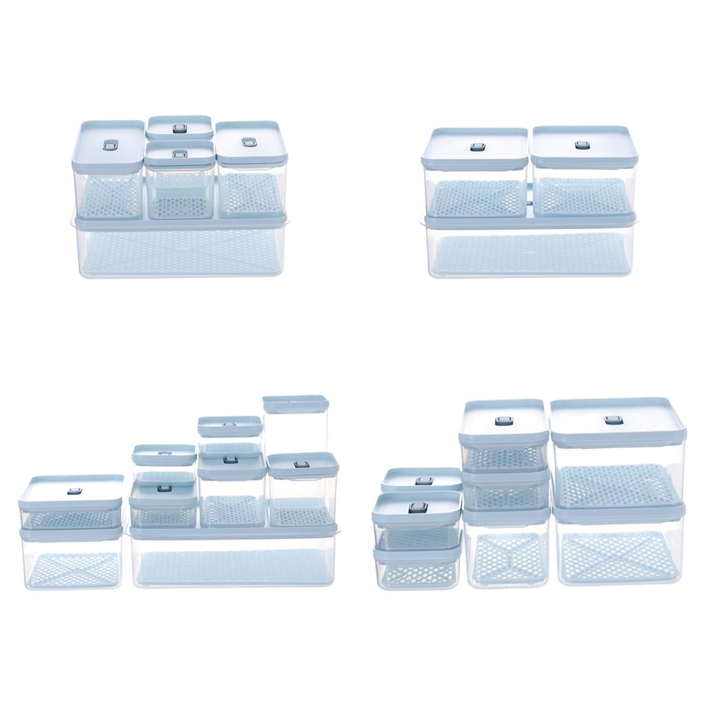 شفافة المطبخ الثلاجة الغذاء الحاويات الخضروات الطازجة صندوق تخزين توفير مساحة BPA-Free المنظم