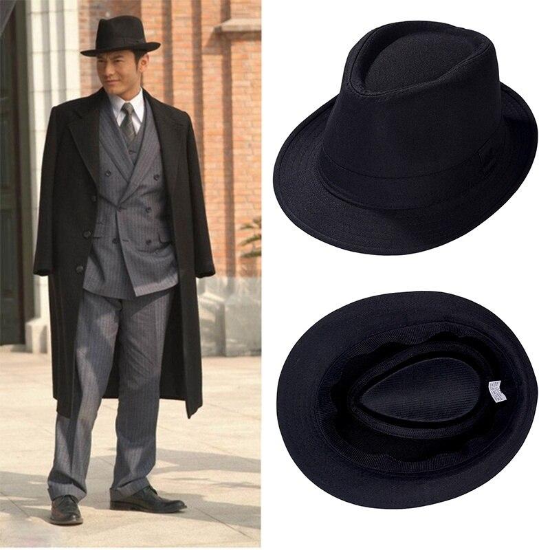 New Fashion Vintage Hat Men's Casual British Jazz Hat Black Top Hat Stage Hat Sun Outdoor Hat