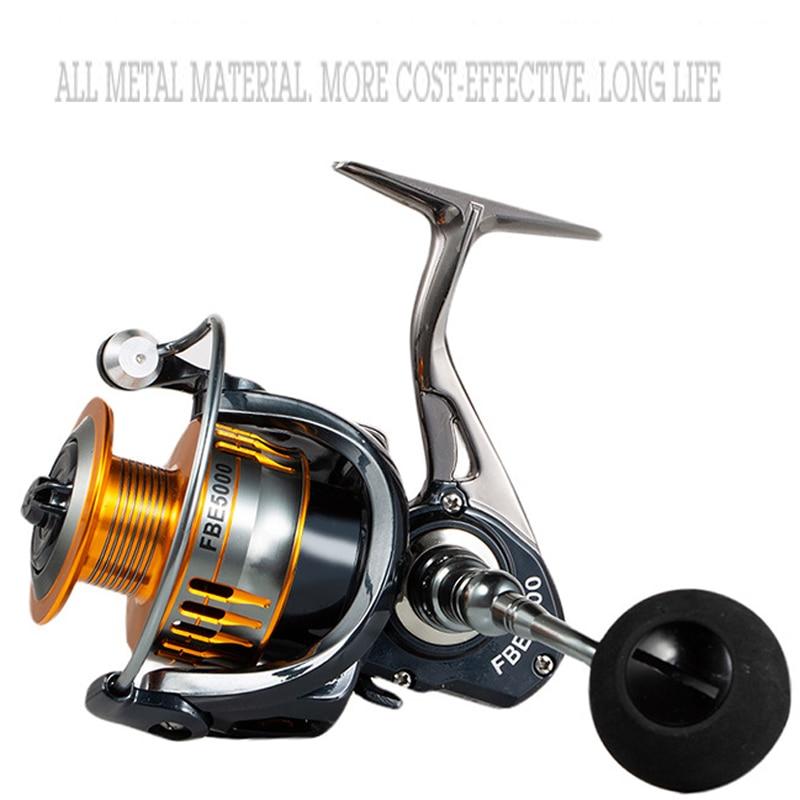 Spinning Fishing Reel 2000-7000 5.0:1 full matel Fly Fishing Wheel Fishing Tools sea fishing wheel Water Resistance Bass Fishing