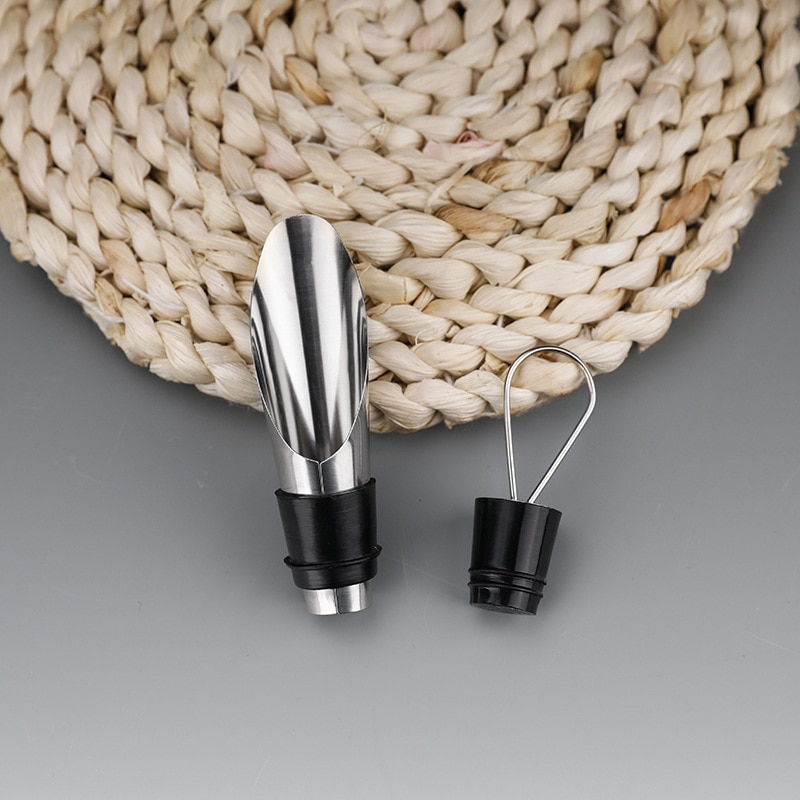 NEW Stainless steel wine pourer Wine Multifunctional dual-purpose stopper bottle utensils