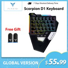 Flydigi Scorpion One-handed Mechanical Keyboard PUBG  mobile Bluetooth  for iOS/Android Phone iPad T
