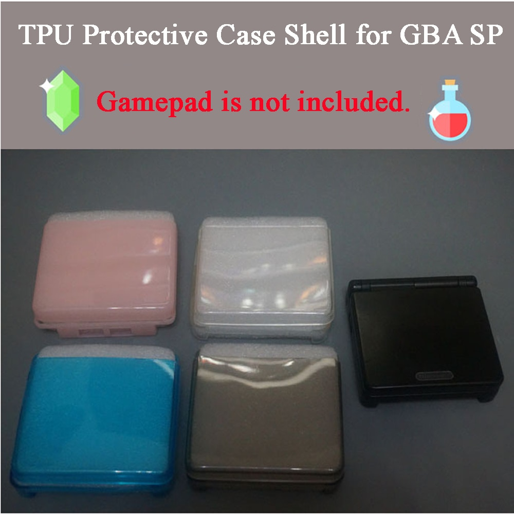 10 قطعة شفافة TPU غمبد حالة وقائية ل GBA SP وحدة قذيفة حماية حالة غطاء ل Gameboy Advance SP اكسسوارات
