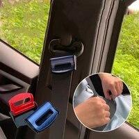 2x auto seat belts clips safety adjustable accessories for citroen c4 c5 c3 picasso xsara berlingo saxo c2 c1 c4l ds3 xantia ds4
