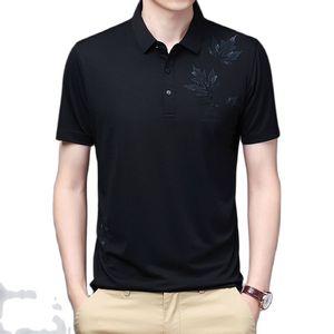 Men Polo Shirt Summer Short Sleeve Thin Breathable Polo Shirt Men Streetwear Fashion Print Casual Top