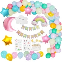 53pcsset sky theme rainbow decoration for kids party star clouds moon sun foil balloon gender reveal birthday decoration girl