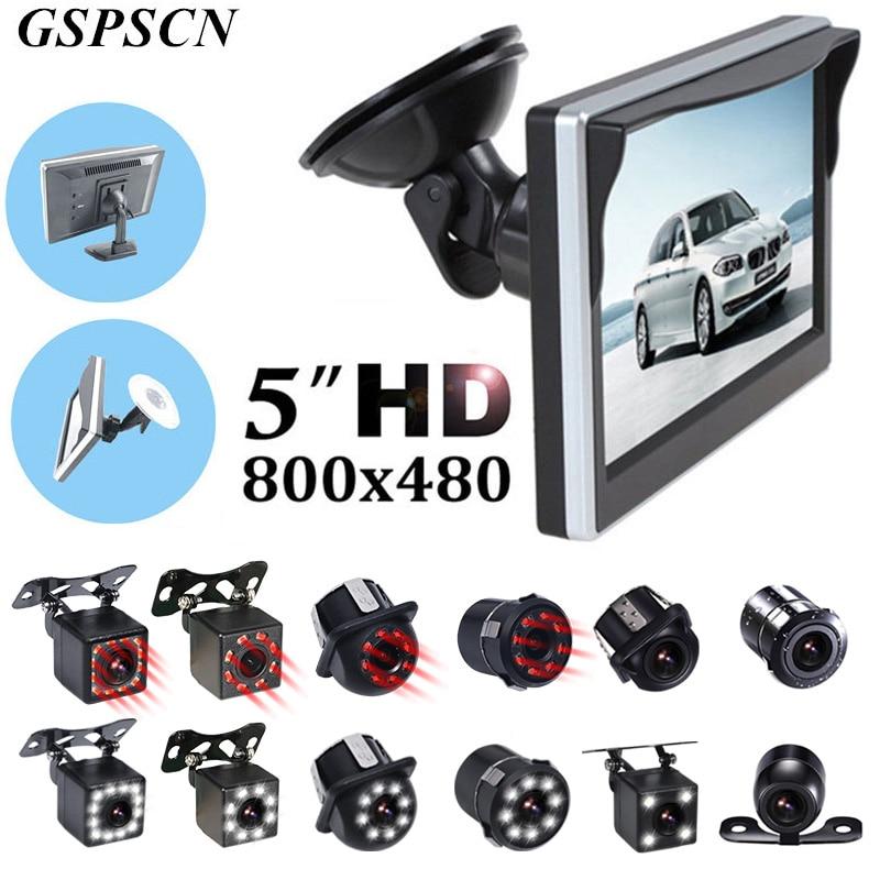 Система помощи при парковке GSPSCN, 5-дюймовый монитор заднего вида, Автомобильная камера заднего вида, резервная камера заднего вида, светодио...