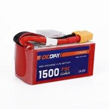 OCDAY 14,8 V 1500mAh 75C batería Lipo XT60 macho para 150-280 Raing Quacopter