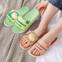 cartoon dinosaur women home slippers wear summer cute bathroom shower non slip slippers couple flat sandals