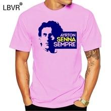Ayrton Senna Men T Shirt Lotus John Player Team Car Helmet Funny Tees Short Sleeve T-Shirt Pure Cotton Unique Clothes