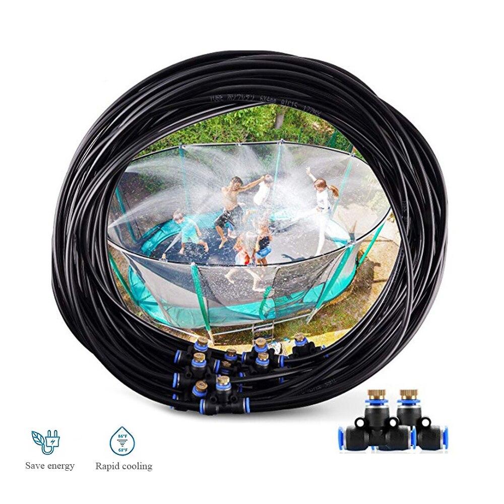15M Trampoline Sprinkler Outdoor Water Park Dedicated PE High Pressure Atomizing Cooling Pipe Water Toys Amusement sprinkler