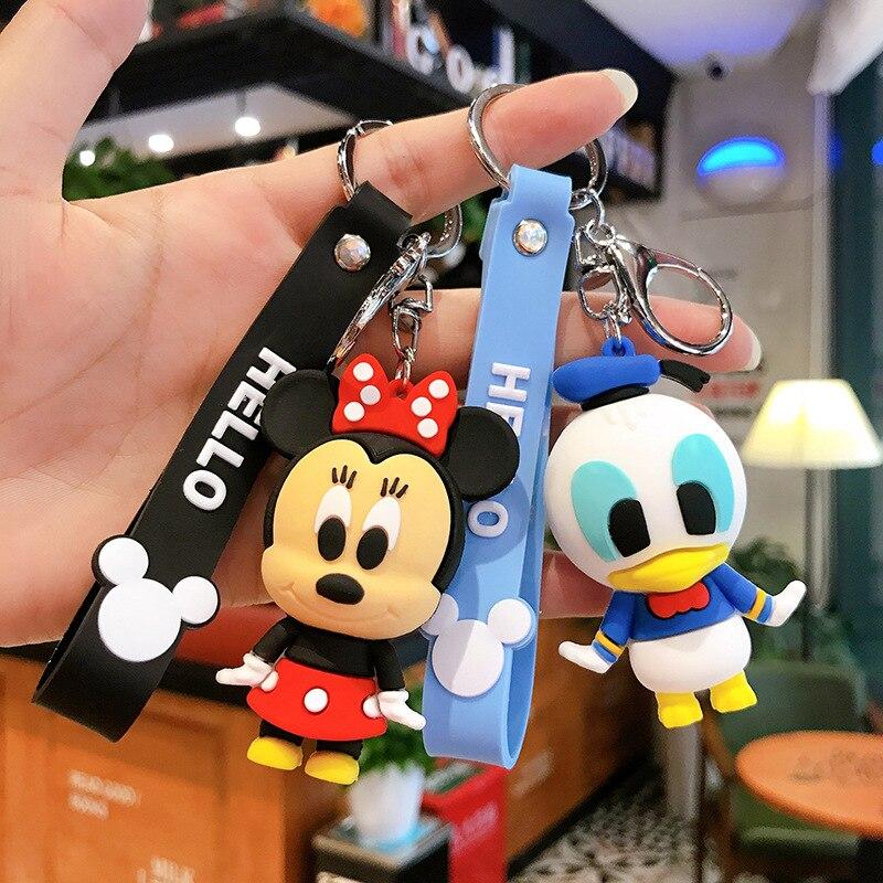 Disney dos desenhos animados boneca mickey minnie criativo chaveiro menina epóxi presente carro casal saco charme chaveiro presente acessórios