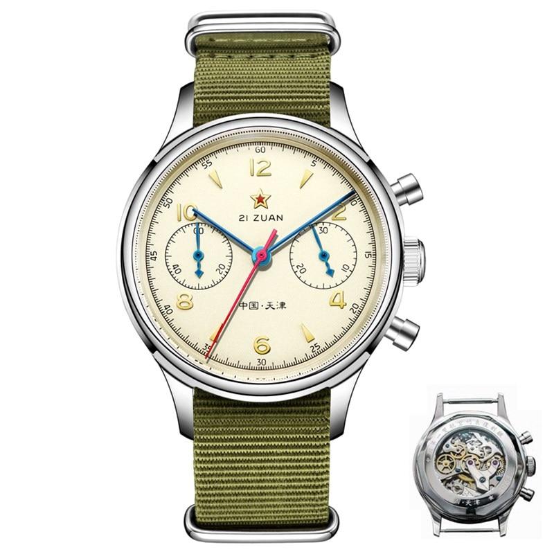 Классические сапфировое стекло 1963 хронограф для мужчин пилот часы механический ручной Ветер движение мужчин t ST1901 мужские авиаторы часы