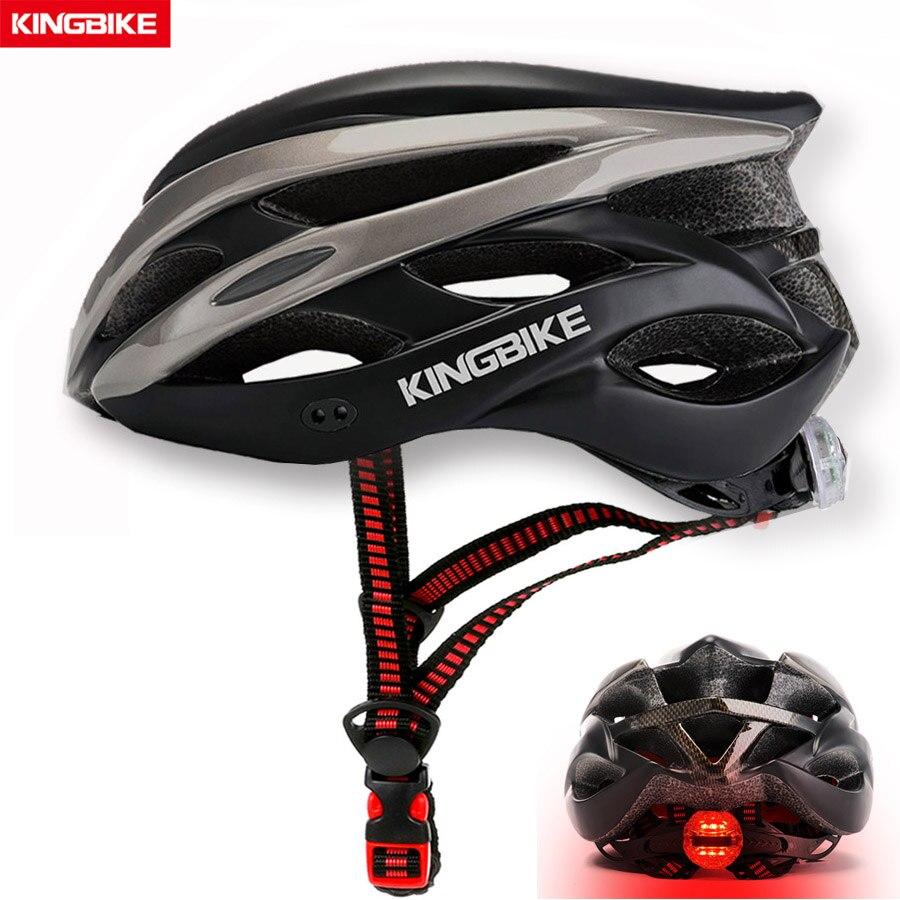 Casco de bicicleta rojo ultraligero KINGBIKE aero capacete Road mtb Mountain Bike casco de ciclismo con luz trasera casco ciclismo Helmes