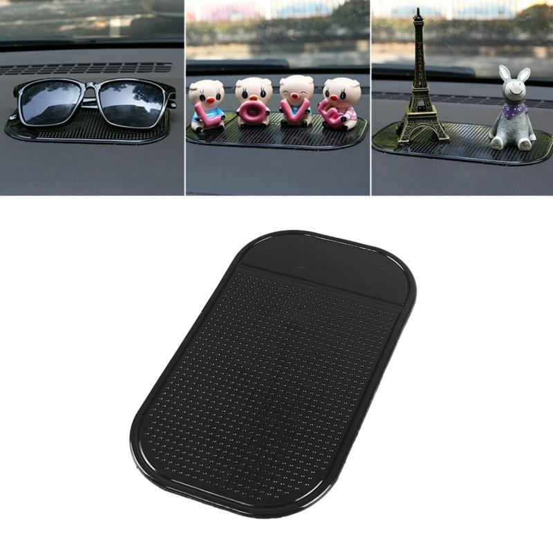 Almohadilla de Gel negra antideslizante para salpicadero de coche, soporte para teléfono Universal antideslizante, alfombrilla de Gel de silicona lavable para coche, accesorios para coche