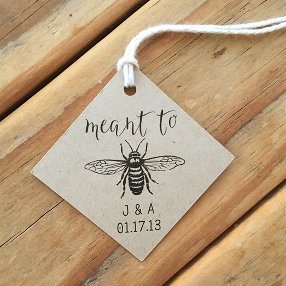 30 Uds. Etiquetas personalizadas para recuerdos de boda con diseño de abeja, etiquetas personalizadas para regalos de bautizo o baby shower