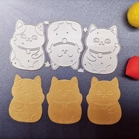 new metal cutting dies scrapbooking lucky cat diy album paper card craft embossing stencil dies 11458mm