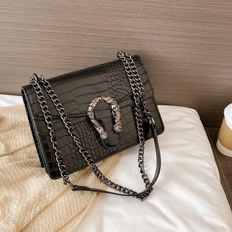 Luxury stone pattern leather Crossbody Bag for women 2020 fashion sac a main female shoulder bag female handbags and purses
