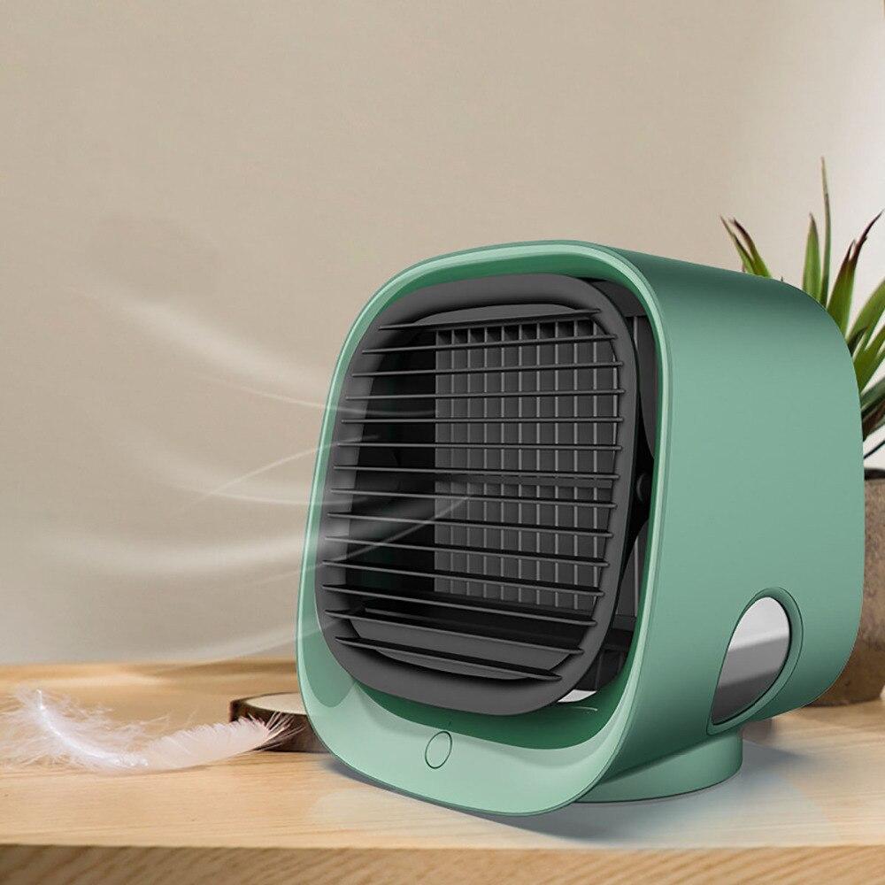 Mini Air Cooler Portable  Air Conditioner Home Air Conditioning Humidifier Purifier USB Desktop 3 Speeds Quiet Air Cooler